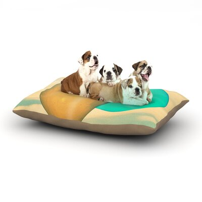 Robin Dickinson Balloons Clouds Dog Pillow with Fleece Cozy Top Size: Small (40 W x 30 D x 8 H)