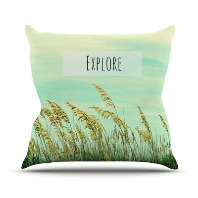 Explore Throw Pillow Size: 26 H x 26 W