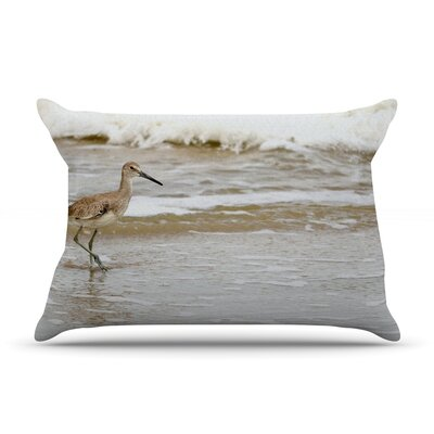 Counting the Waves by Robin Dickinson Featherweight Pillow Sham Size: King, Fabric: Woven Polyester