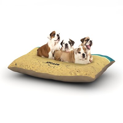 Robin Dickinson Escape Beach Sand Dog Pillow with Fleece Cozy Top Size: Small (40 W x 30 D x 8 H)