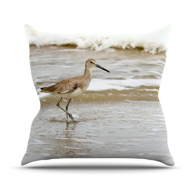 Counting The Waves Throw Pillow Size: 18 H x 18 W