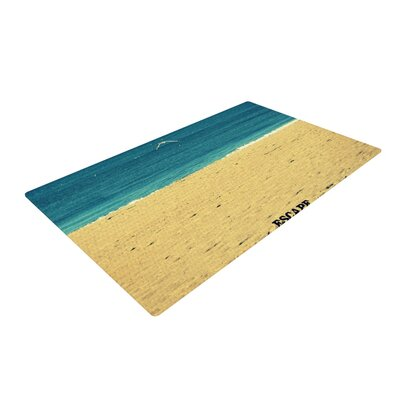 Robin Dickinson Escape Beach Sand Brown/Blue Area Rug