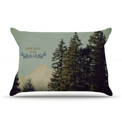 Happy Trails Pillow Case Size: Standard