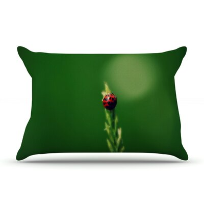 Ladybug Hugs by Robin Dickinson Featherweight Pillow Sham Size: Queen, Fabric: Woven Polyester