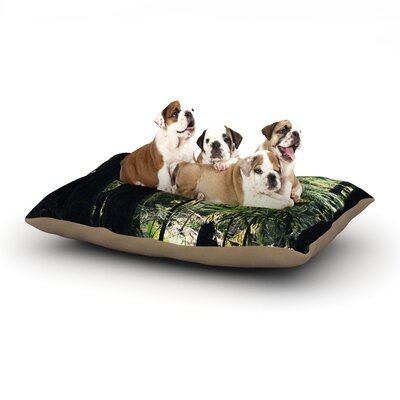 Robin Dickinson Enchanted Forest Dog Pillow with Fleece Cozy Top Size: Small (40 W x 30 D x 8 H)