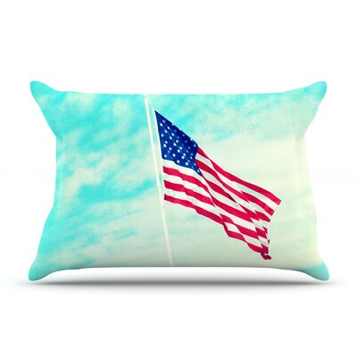 Robin Dickinson Usa Colors Flag Pillow Case