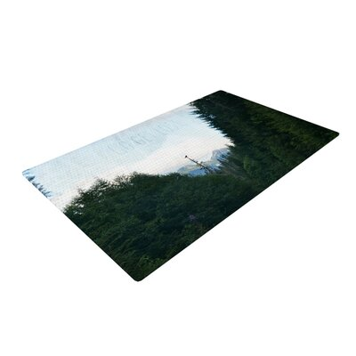 Robin Dickinson Go Get Lost Forest Green Area Rug