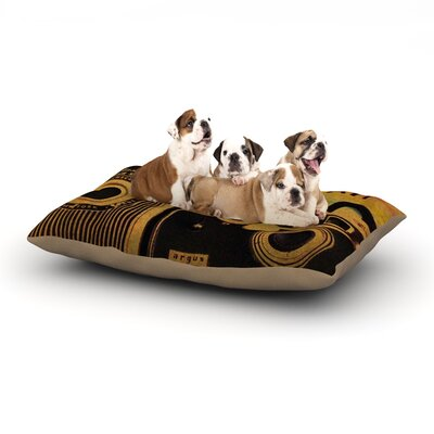 Robin Dickinson Ingredients Dog Pillow with Fleece Cozy Top Size: Large (50 W x 40 D x 8 H)