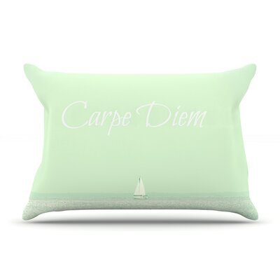 Robin Dickinson 'Carpe Diem' Ocean Pillow Case
