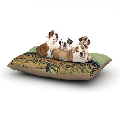 Robin Dickinson Carova Dunes Beach Dog Pillow with Fleece Cozy Top Size: Large (50 W x 40 D x 8 H)