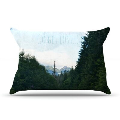 Go Get Lost by Robin Dickinson Featherweight Pillow Sham Size: Queen, Fabric: Woven Polyester