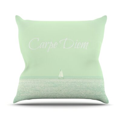 Carpe Diem by Robin Dickinson Throw Pillow Size: 18 H x 18 W x 3 D