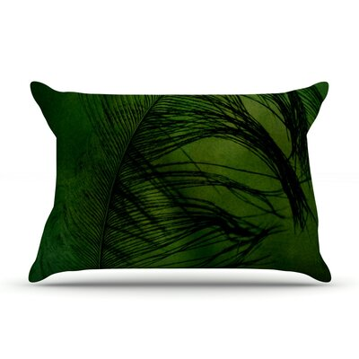 Robin Dickinson Feather Peacock Pillow Case