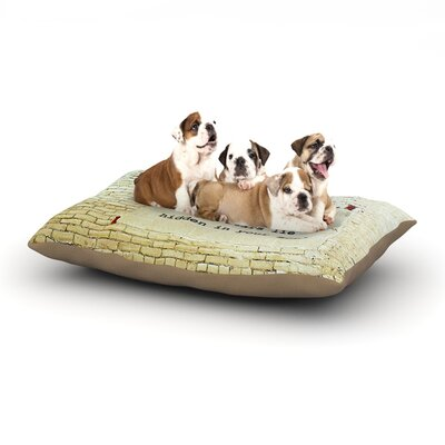 Robin Dickinson Reach High Brick Wall Dog Pillow with Fleece Cozy Top Size: Large (50 W x 40 D x 8 H)