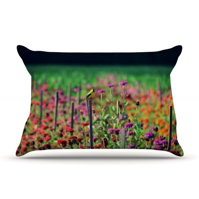 Live in the Sunshine by Robin Dickinson Featherweight Pillow Sham Size: King, Fabric: Woven Polyester