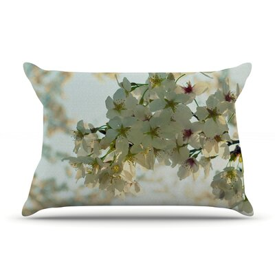 Cherry Blossoms by Robin Dickinson Featherweight Pillow Sham Size: King, Fabric: Woven Polyester
