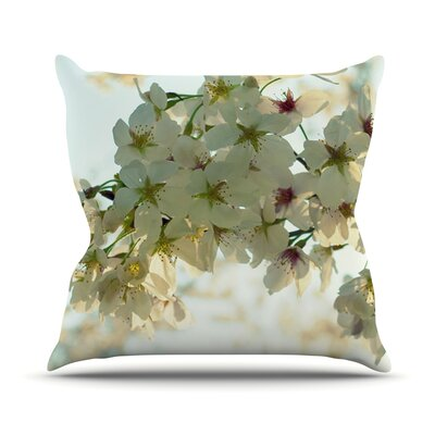 Cherry Blossoms Throw Pillow Size: 18 H x 18 W