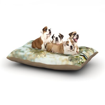 Robin Dickinson Cherry Blossoms Flower Dog Pillow with Fleece Cozy Top Size: Small (40 W x 30 D x 8 H)