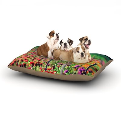 Robin Dickinson Live in the Sunshine Dog Pillow with Fleece Cozy Top Size: Small (40 W x 30 D x 8 H)
