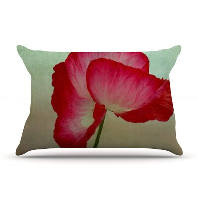 Robin Dickinson 'La Te Da' Poppies Pillow Case