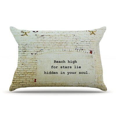 Robin Dickinson 'Reach High' Brick Wall Pillow Case