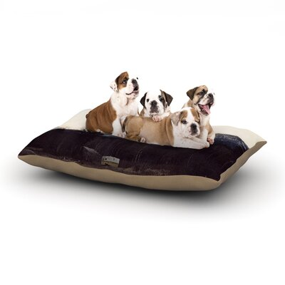 Robin Dickinson Go Into the Unknown Dog Pillow with Fleece Cozy Top Size: Large (50 W x 40 D x 8 H)