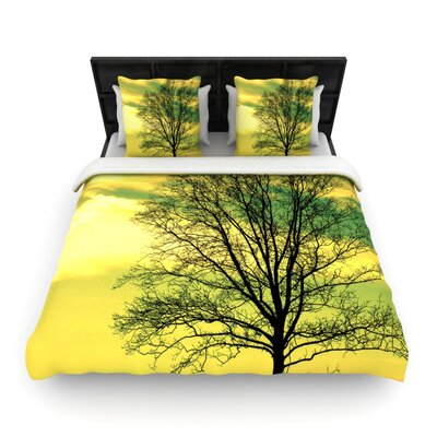Tree Sky by Robin Dickinson Woven Duvet Cover Size: Queen