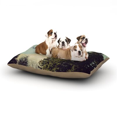 Robin Dickinson Happy Trails Dog Pillow with Fleece Cozy Top Size: Large (50 W x 40 D x 8 H)