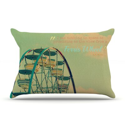 Ferris Wheel by Robin Dickinson Featherweight Pillow Sham Size: Queen, Fabric: Woven Polyester