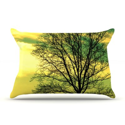 Tree Sky by Robin Dickinson Featherweight Pillow Sham Size: Queen, Fabric: Woven Polyester