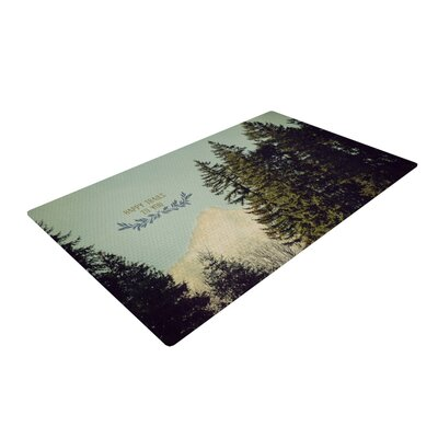 Robin Dickinson Happy Trails Green Area Rug