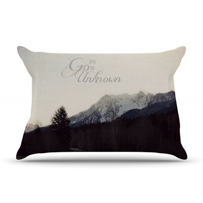 Go Into the Unknown by Robin Dickinson Featherweight Pillow Sham Size: King, Fabric: Woven Polyester