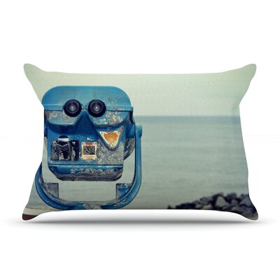 Robin Dickinson 'Way Out There' Ocean Pillow Case