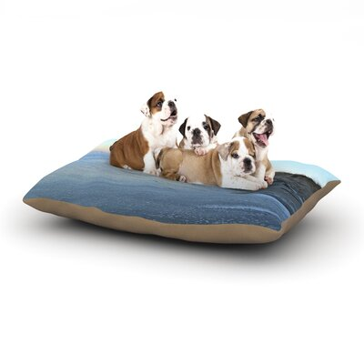 Robin Dickinson Sand Surf Sunshine Beach Dog Pillow with Fleece Cozy Top Size: Large (50 W x 40 D x 8 H)