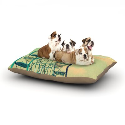 Robin Dickinson Ferris Wheel Dog Pillow with Fleece Cozy Top Size: Large (50 W x 40 D x 8 H)