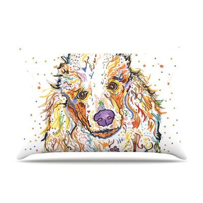 Lily by Rebecca Fischer Featherweight Pillow Sham Size: King, Fabric: Woven Polyester