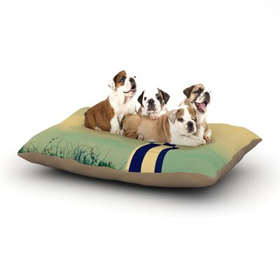 Robin Dickinson New Cape Henry Lighthouse Dog Pillow with Fleece Cozy Top Size: Small (40 W x 30 D x 8 H)