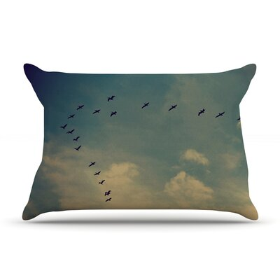 Pterodactyls by Robin Dickinson Featherweight Pillow Sham Size: King, Fabric: Woven Polyester