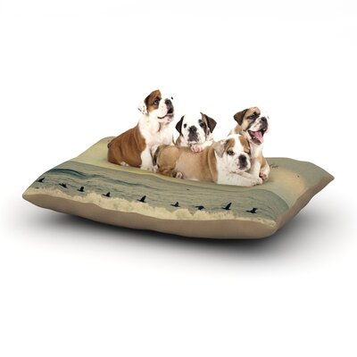 Robin Dickinson Pieces of Heaven Beach Dog Pillow with Fleece Cozy Top Size: Large (50 W x 40 D x 8 H)