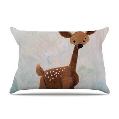 Oh Deer by Rachel Kokko Featherweight Pillow Sham Size: Queen, Fabric: Woven Polyester