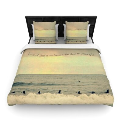 Pieces of Heaven by Robin Dickinson Woven Duvet Cover Size: Twin