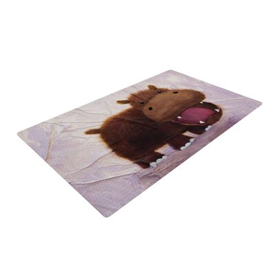 The Happy Hippo Novelty Rug Rug Size: 4 x 6