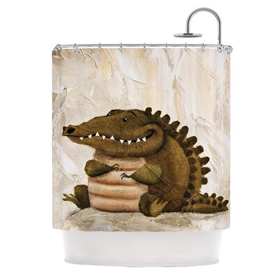 Smiley Crocodiley Shower Curtain