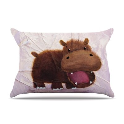 Rachel Kokko The Happy Hippo Featherweight Sham Size: King, Fabric: Woven Polyester