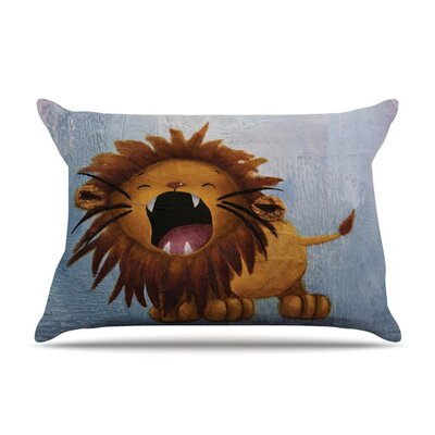 Dandy Lion by Rachel Kokko Featherweight Pillow Sham Size: Queen, Fabric: Woven Polyester