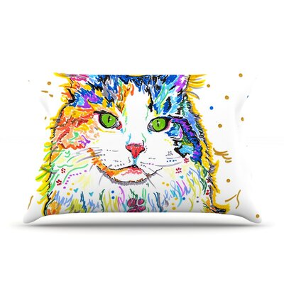 Rebecca Fischer Royal Rainbow Cat Pillow Case