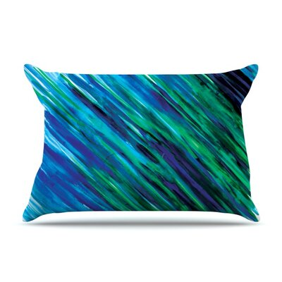 Set by Theresa Giolzetti Featherweight Pillow Sham Size: King, Color: Blue, Fabric: Woven Polyester