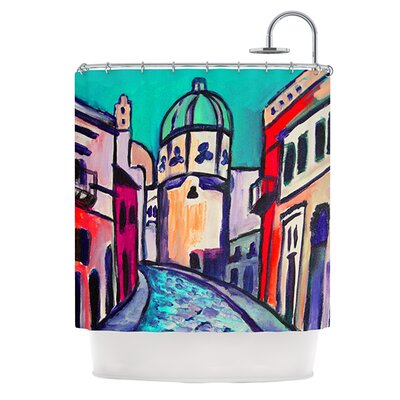 Procida Teal Shower Curtain