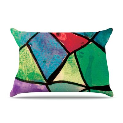 Stain Glass 1 by Theresa Giolzetti Featherweight Pillow Sham Size: King, Fabric: Woven Polyester