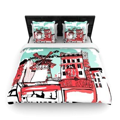 Montmartre Woven Comforter Duvet Cover Size: Full/Queen